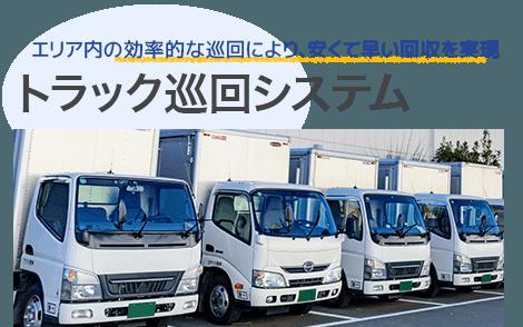 不用品回収トラックの効率的巡回システム