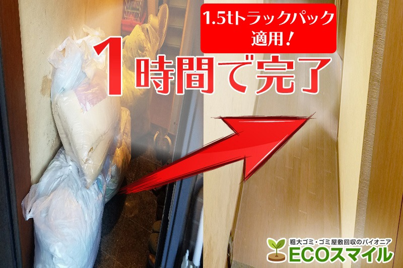 格安おススメ業者のトラック積み放題での不用品回収川崎市のゴミ屋敷現場レポート