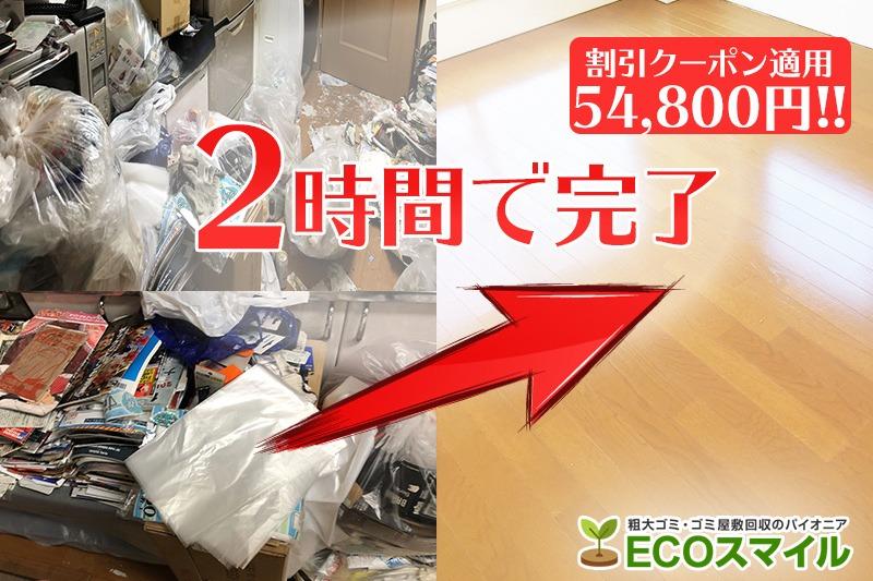 格安おススメ業者のトラック積み放題での不用品回収・ゴミ屋敷現場レポート