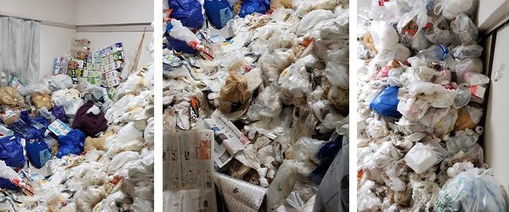 ゴミ屋敷の掃除・片付け代行現場写真