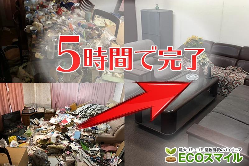 格安おススメ業者のトラック積み放題でのゴミ屋敷の掃除代行及び不用品回収東京都町田市の現場レポート