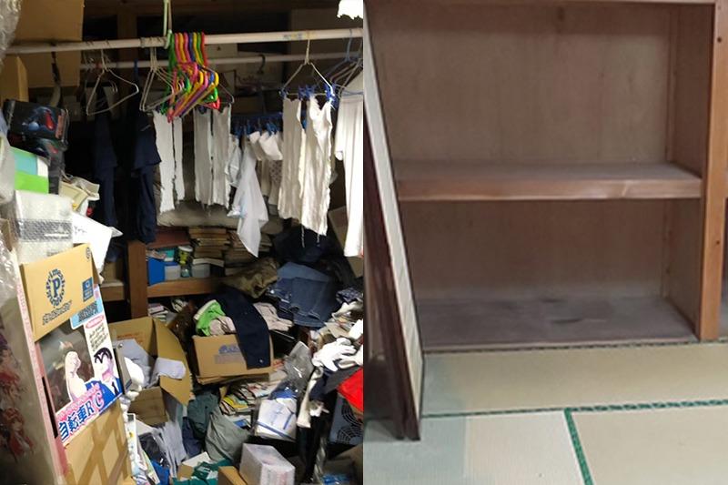 ゴミ屋敷|汚部屋の不用品回収ビフォーアフター