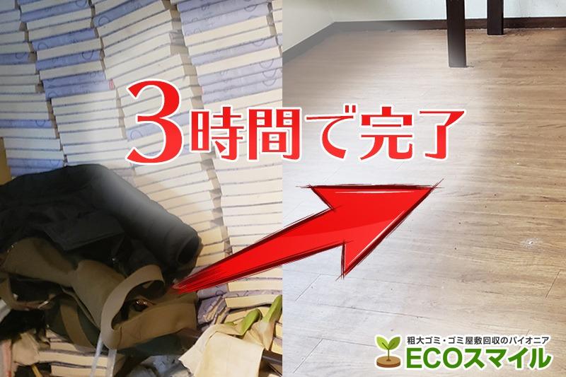 格安おススメ業者のトラック積み放題でのゴミ屋敷の掃除、片付け代行及び不用品回収|東京都小平市の現場レポート