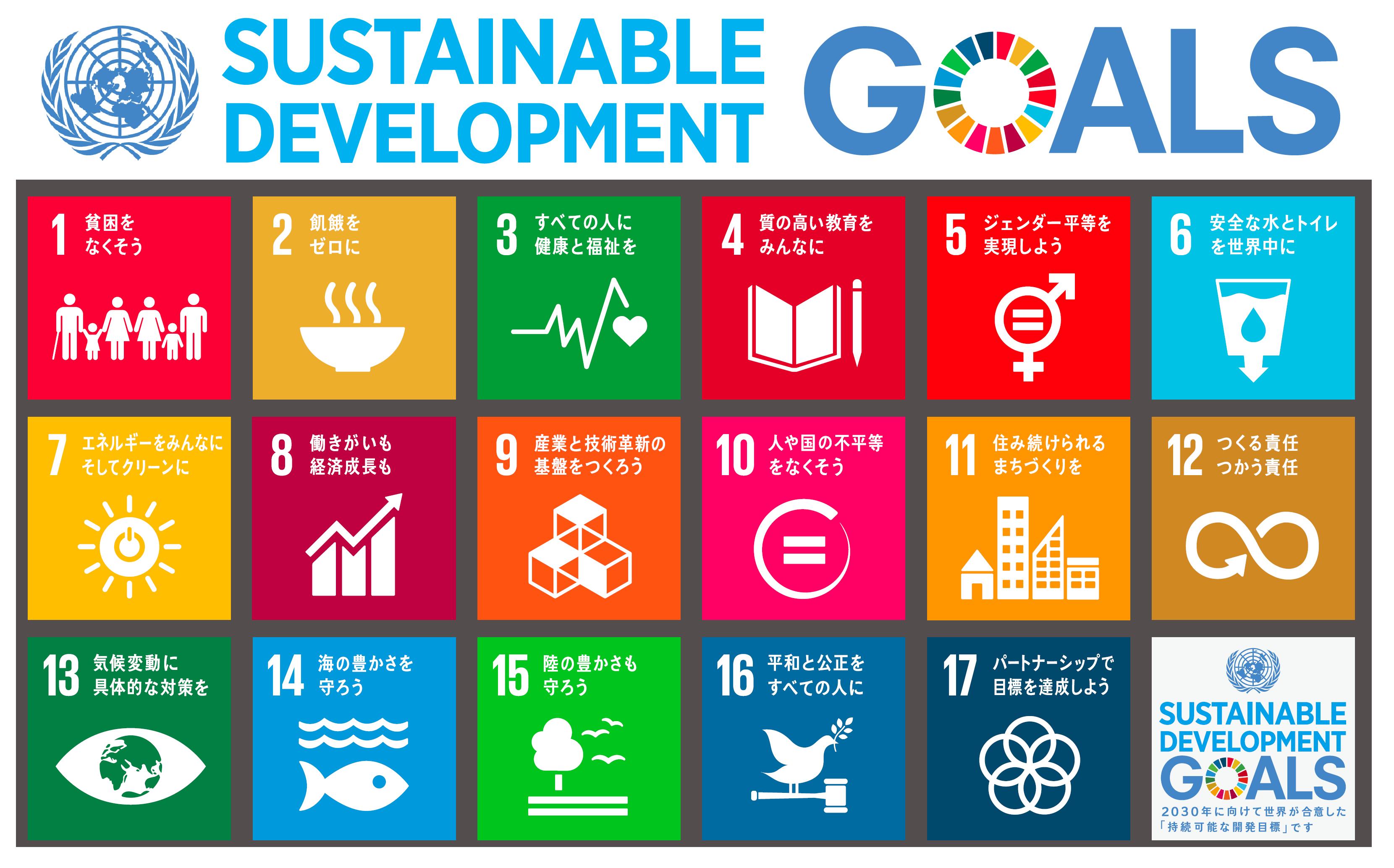 SDGs|Sustainable Development Goals(持続可能な開発目標)
